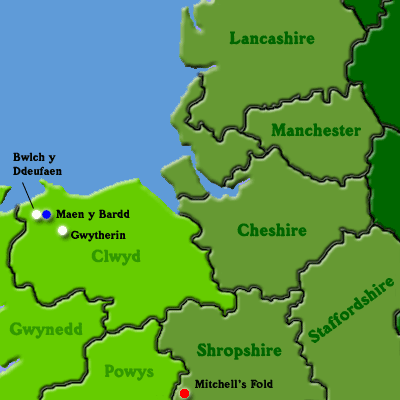 Map of North Wales and North West England